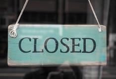 Muestra de la tienda cerrada fotografía de archivo