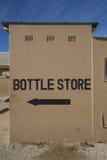Muestra de la tienda de la botella Foto de archivo libre de regalías