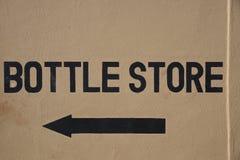 Muestra de la tienda de la botella Imágenes de archivo libres de regalías