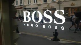Muestra de la tienda de Hugo Boss almacen de video