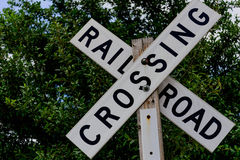 Muestra de la travesía de ferrocarril Imágenes de archivo libres de regalías