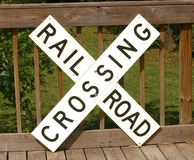 Muestra de la travesía de ferrocarril Foto de archivo