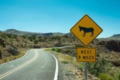 Muestra de la travesía del burro de Route 66 Fotografía de archivo libre de regalías