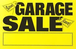 Muestra de la venta de garage imagen de archivo
