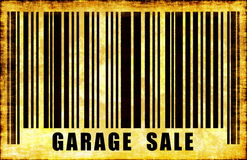 Muestra de la venta de garage Fotos de archivo libres de regalías