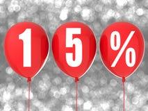muestra de la venta del 15% Imagenes de archivo