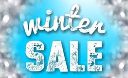 Muestra de la venta del invierno imagen de archivo