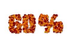 muestra de la venta de 60 del por ciento hojas de otoño Fotografía de archivo libre de regalías