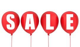 Muestra de la venta en los globos rojos Imagen de archivo libre de regalías