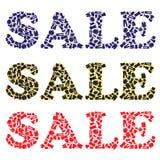 Muestra de la venta para los almacenes de ropa Imágenes de archivo libres de regalías