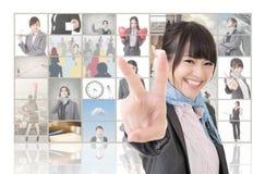 Muestra de la victoria fotos de archivo libres de regalías