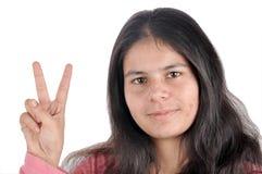 Muestra de la victoria de la muchacha fotos de archivo libres de regalías