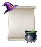 Muestra de la voluta de la historieta de Halloween Fotografía de archivo