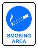Muestra de la zona de fumadores stock de ilustración