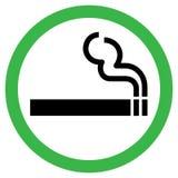 Muestra de la zona de fumadores Fotos de archivo libres de regalías