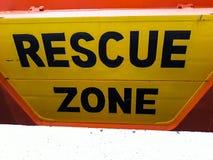 Muestra de la zona del rescate It' s fotografió en el casco de un barco del salvamento fotos de archivo libres de regalías