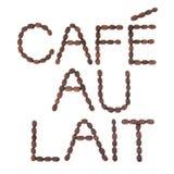Muestra de Lait de au de café Fotos de archivo libres de regalías