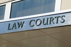 Muestra de las cortes de ley Imagenes de archivo
