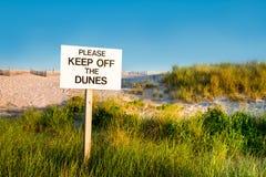 Muestra de las dunas de la playa Fotografía de archivo
