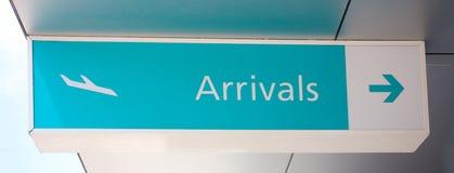 Muestra de las llegadas Imagenes de archivo