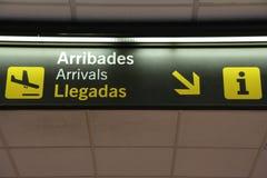 Muestra de las llegadas Imagen de archivo