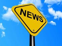 Muestra de las noticias Imagen de archivo