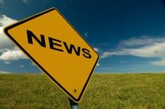Muestra de las noticias Imagen de archivo libre de regalías