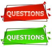 Muestra de las preguntas Imagen de archivo