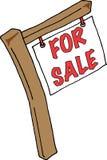 Muestra de las propiedades inmobiliarias para la venta Fotos de archivo libres de regalías