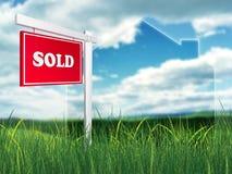 Muestra de las propiedades inmobiliarias - vendida stock de ilustración