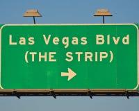 Muestra de Las Vegas Blvd Imagen de archivo