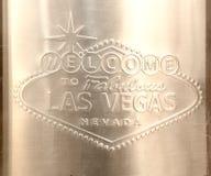 Muestra de Las Vegas grabada en el acero inoxidable fotos de archivo