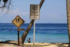 Muestra de los aguijones en la playa foto de archivo libre de regalías