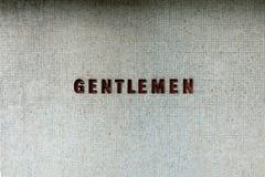 Muestra de los caballeros del vintage Fotografía de archivo libre de regalías