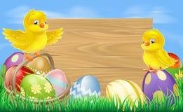 Muestra de los huevos de Pascua ilustración del vector