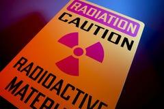 Muestra de los materiales radioactivos Foto de archivo libre de regalías