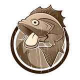 Muestra de los pescados de la historieta de la vendimia Fotos de archivo