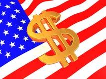 Muestra de los USD en indicador americano Imagen de archivo