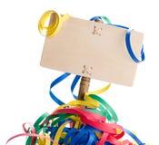 Fiesta de cumpleaños Annoucement o mensaje Imagen de archivo libre de regalías