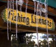 Muestra de madera congelada invierno fotos de archivo