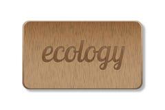 Muestra de madera de la ecología Imagen de archivo
