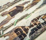 Muestra de madera de la playa del vintage fotos de archivo libres de regalías