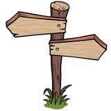 Muestra de madera de las flechas Imagen de archivo libre de regalías
