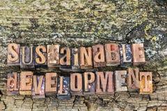 Muestra de madera de desarrollo sostenible Fotografía de archivo