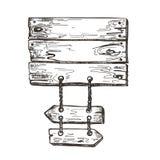 Muestra de madera gr?ficos del bosquejo Fondo del paseo mar?timo Imagen del vector stock de ilustración