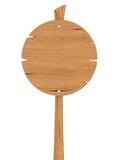 Muestra de madera redonda en blanco Foto de archivo