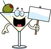 Muestra de Martini de la historieta ilustración del vector