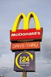 Muestra de McDonalds Imagen de archivo libre de regalías