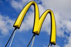 Muestra de McDonalds Imágenes de archivo libres de regalías