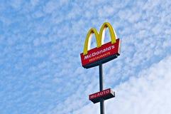 Muestra de McDonalds Fotografía de archivo libre de regalías